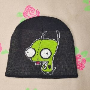 GIR / Invader Zim Black Winter Hat By Nickelodeon
